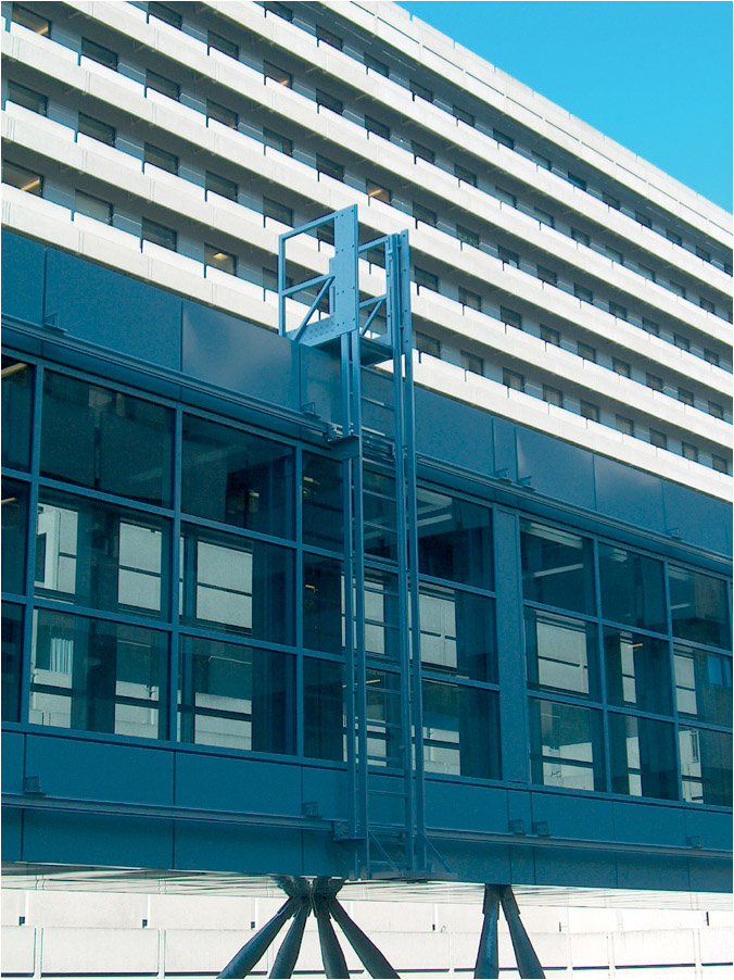 Painted aluminum hanging ladder